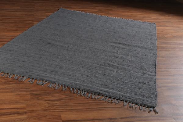 Handwebteppich FRANKEN dunkelgrau