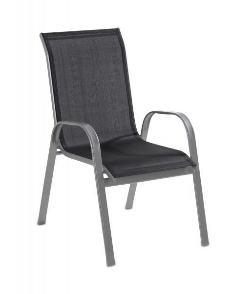 Stuhl Gartenstuhl Stapelstuhl SIRON 10, Schwarz, stapelbar
